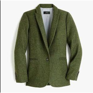 J Crew Parke Blazer Jacket English Wool GREEN